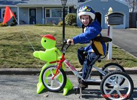 Adam on bike.