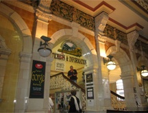 Inside Dunedin railway station.
