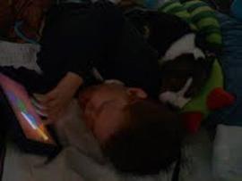 Mason with iPad.