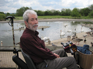 Mike at Slimbridge Wetlands Centre.