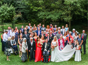 Neil, Ginny and wedding guests.