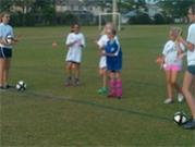 Sophia at soccer practice.