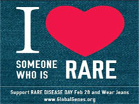 I love someone who is rare logo.