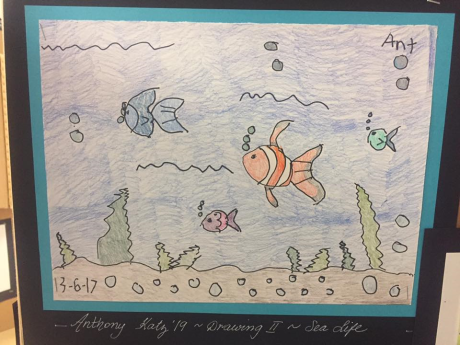 Fish drawing by Anthony