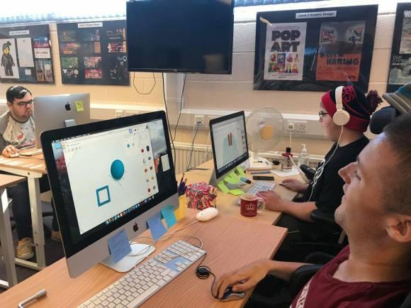 Graphic Design students.