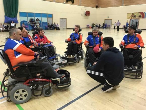 NMC Titins wheelchair football.