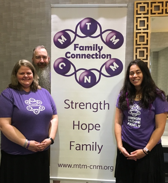 Erin, Mark and Marie from the MTM CNM Family Connection at the MTM - CNM Family Conference 2019.