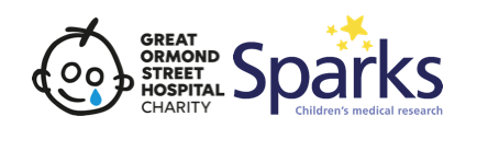 Great Ormond Street Hospital Charity and Sparks logo.
