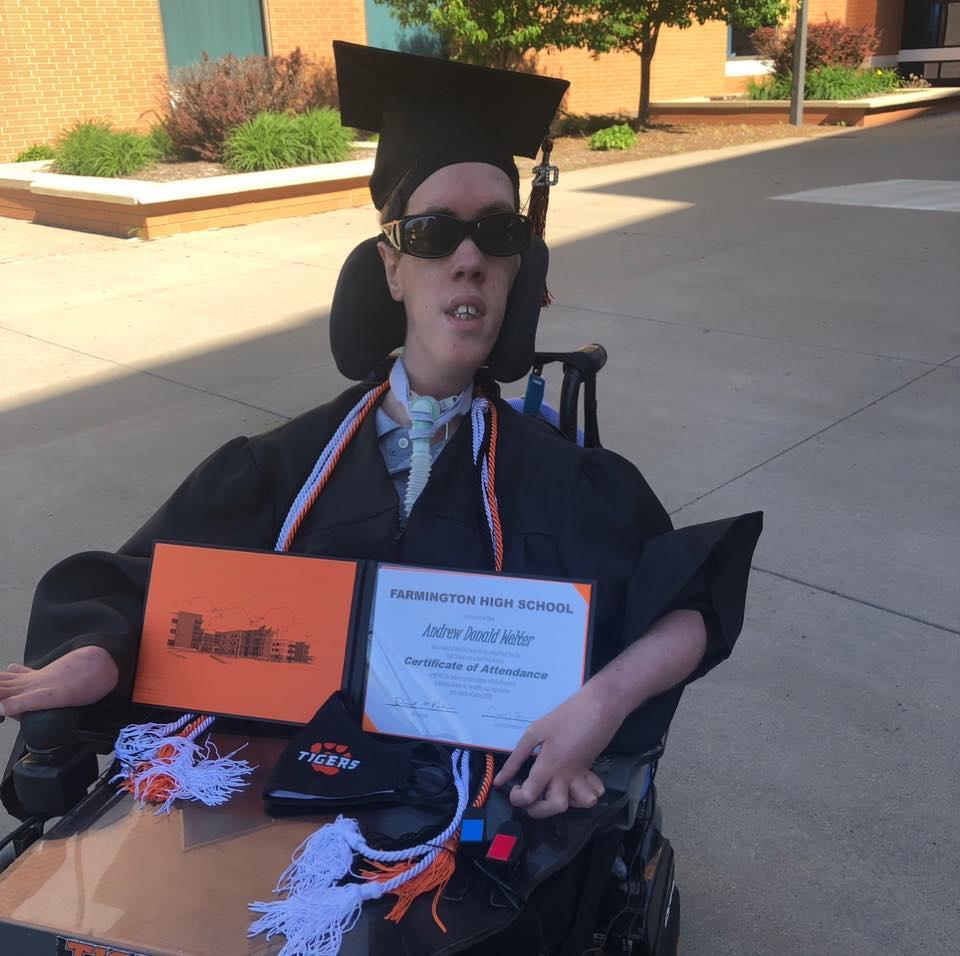 Andy's graduation.