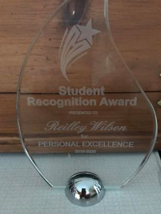 Student recognition award.